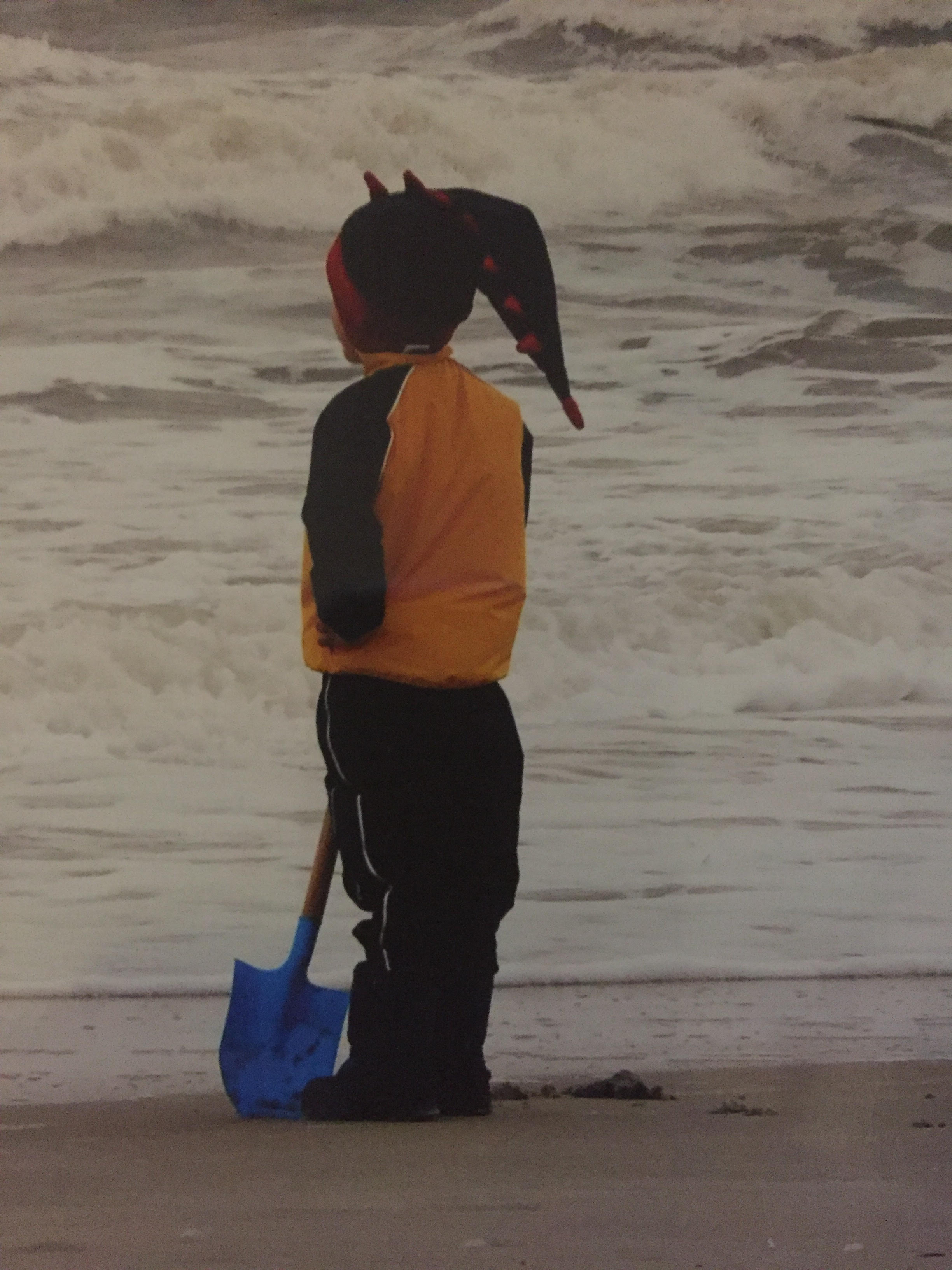 D rex hat on beach on Thanksgiving